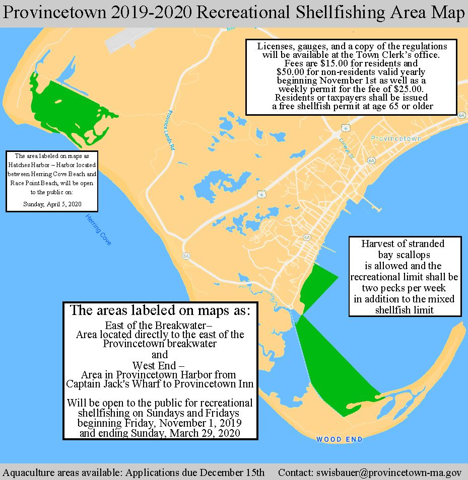 2019-20 recreational shellfishing map